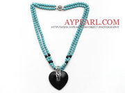 Turquoise Necklace with Heart Shape Pendant Is Sold At $9.59
