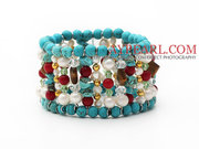 Assorted Turquoise And Coral Bracelet Is Sold At $7.09